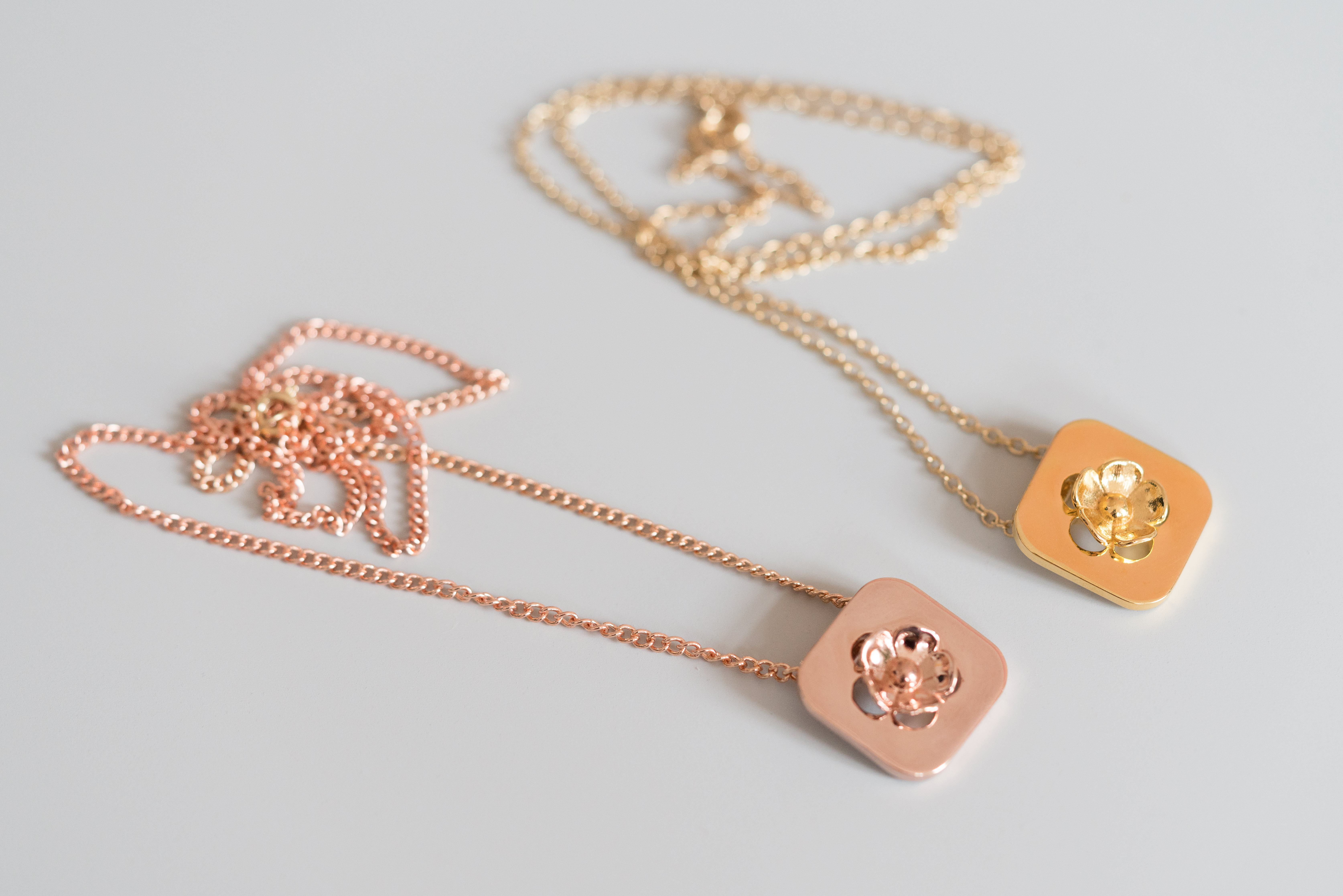 Onnerboegs Blossom Necklace Rosé and Goldplated